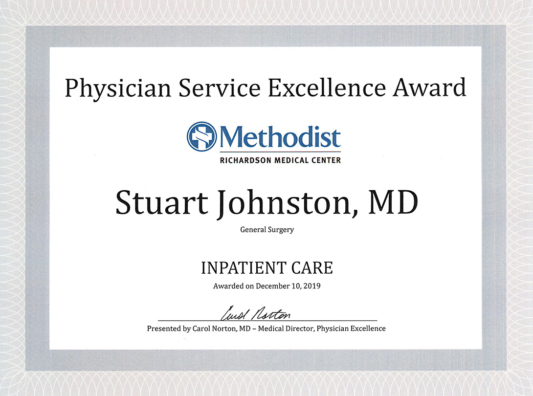 2019 Physician Service Excellence Award MRMC2